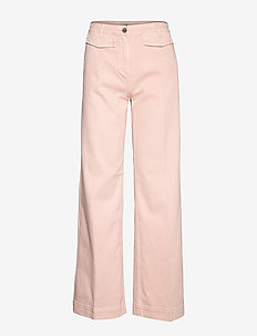 NIA - bukser med brede ben - pink lady