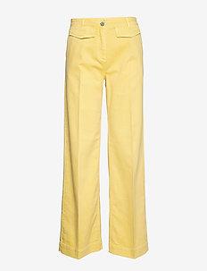 NIA - vide bukser - straw yellow