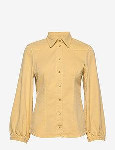 BONNY - langærmede skjorter - straw yellow