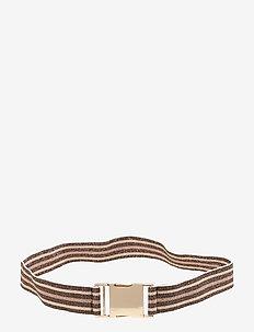 LILIA - bælter - rosebrownblue stripe