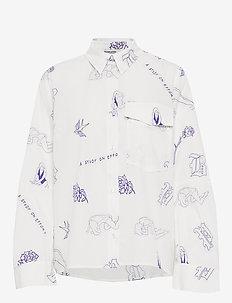 MORWYN - langærmede skjorter - white tattoo