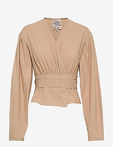 MIANNE - long sleeved blouses - warm sand