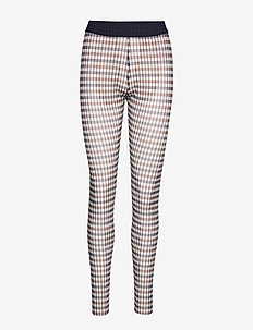JAZZLYN - leggings - brown blue houndstooth