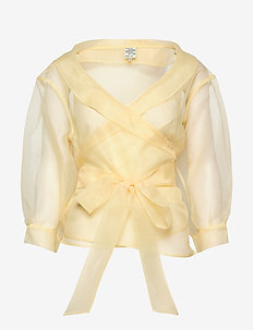 MILOU - long sleeved blouses - vanilla custard yellow