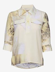 MIHOKO - long sleeved blouses - big rose yellow