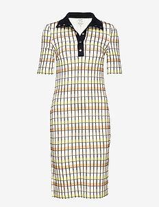 JACE - midi kjoler - yellow peach check