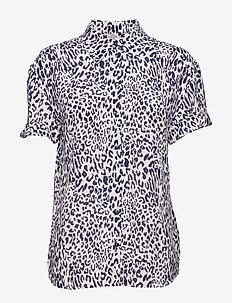 MOANNA - short-sleeved blouses - deep cobalt leo