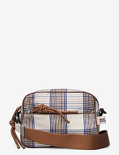 KENLEY - skuldertasker - creamnavybrown checks