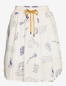 SAMIRAH - short skirts - white tattoo