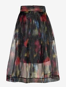 SASHENKA - midinederdele - black floral blur