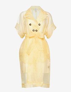 DEVORE - midi kjoler - vanilla custard yellow