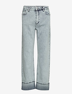 NANNE - straight jeans - heavy washed denim