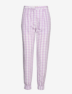 NEMA - casual trousers - creamy lilac check