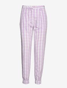 NEMA - casual bukser - creamy lilac check