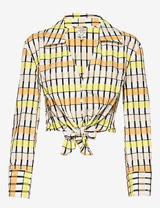 MERONA - long sleeved blouses - peachyellowblack check