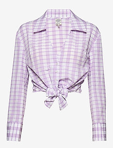 MERONA - long sleeved blouses - creamy lilac check