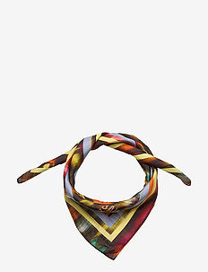LEXINE - scarves - black floral blur