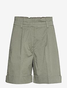 NORAH - paper bag shorts - light khaki