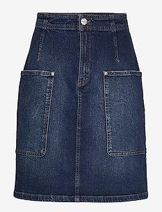 SHANTEL - denim skirts - authentic denim wash