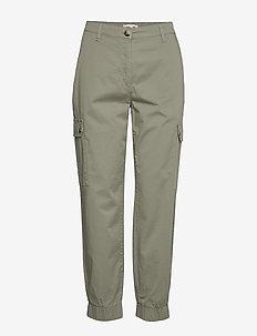 NAJAH - straight leg trousers - light khaki
