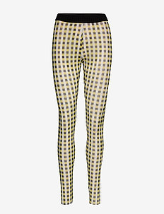 JAZZLYN - leggings - yellow black check