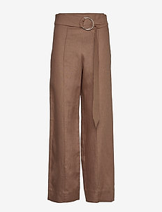 NIMUE - wide leg trousers - mustang brown