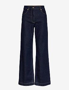 NIKKA - pantalons larges - dark wash denim