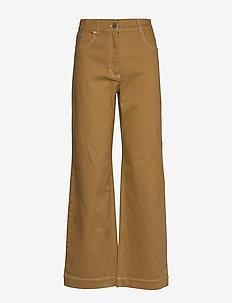 NIKKA - wide leg jeans - dijon brown