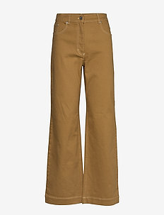 NIKKA - brede jeans - dijon brown