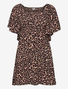 ATENA - short dresses - natural leopard