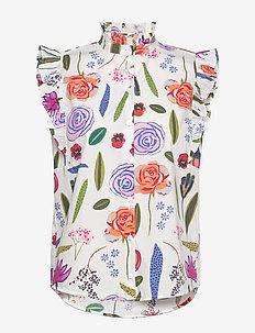 MEDORA - sleeveless blouses - white hampton garden