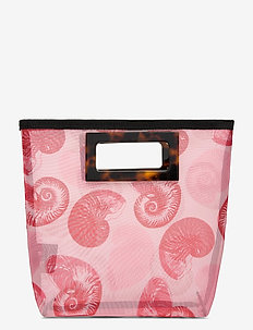 KATE - top handle tasker - pink shell wallpaper