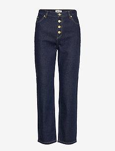 NANCY - jeans droites - dark wash denim