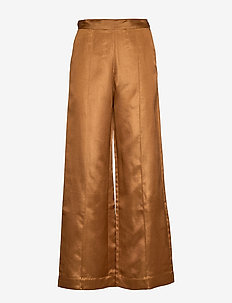 NOMI - wide leg trousers - hazel