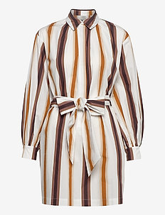 AUBREE - robes courtes - brown nautical stripe