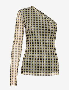 JAMAICA - pitkähihaiset t-paidat - yellow black check