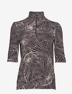 JESSA - short-sleeved blouses - reverse tiger shell