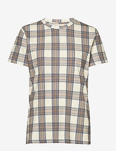 JOLEE - t-shirts - creamnavybrown checks