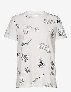 JOLEE - t-shirts - white tattoo
