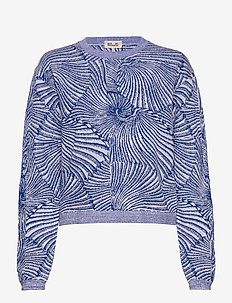 CARMELIA - jumpers - blue tiger shell