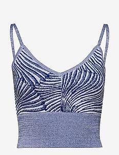 CORTESSA - topy bez rękawów - blue tiger shell