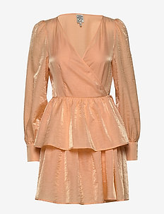 AKEISHA - wikkel jurken - apricot sherbet