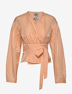 MIANNE - long sleeved blouses - apricot sherbet