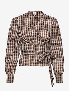 MAECI - blouses à manches longues - tobacco gingham