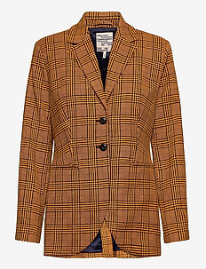 BRYONY - casual blazers - bright orange check