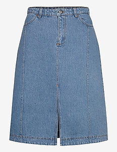 SADIE - denim skirts - vintage washed blue
