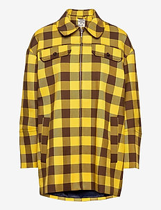 BETHANY - overshirts - brown golden check