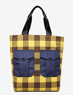 KODY - fashion shoppers - brown golden check