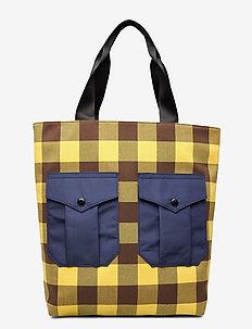KODY - shoppers - brown golden check