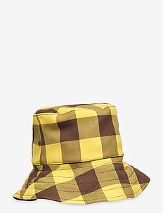 LENA - emmer hoeden - brown golden check